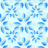 Vector illustration rexture. Abstract blue leaves seamless pattern background. vector illustration rexture Royalty Free Stock Images
