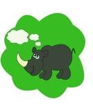 Vector illustration with rhinoceros Royalty Free Stock Photo