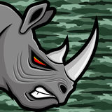 Vector illustration. Rhinoceros. Stock Photos