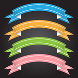 Vector illustration ribbon banner for design and creative work Stock Photography