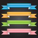 Vector illustration ribbon banner for design and creative work Royalty Free Stock Photography