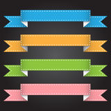 Vector illustration ribbon banner for design and creative work Royalty Free Stock Photos