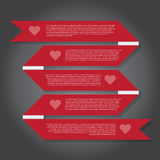 Vector Illustration, Ribbon Banner for Design Work Stock Photos