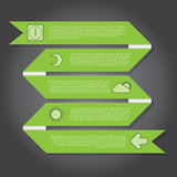 Vector Illustration, Ribbon Banner for Design Work Stock Photography