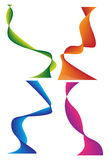 Vector illustration ribbon. Four vector gradient colored ribbon stock illustration