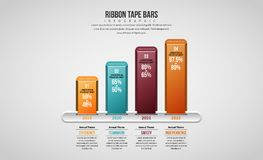 Ribbon Tape Bars Royalty Free Stock Image