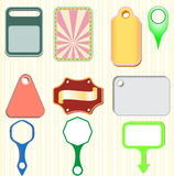 Vector illustration ribbons and labels Stock Images