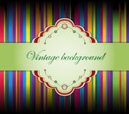 Vector illustration with ribbons. Royalty Free Stock Photo