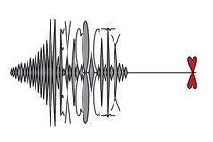 MEXICO CITY, MEXICO, 19 September 2017 - Earthquake hits Mexico City. Vector illustration of a richter scale type and heart on white background Royalty Free Stock Image