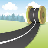 Vector illustration. Road. Stock Photography