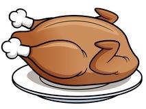 Roast chicken. Vector illustration of roast chicken Stock Image