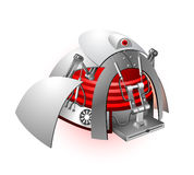 Vector illustration of the robot Royalty Free Stock Photography