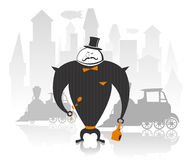 Vector illustration of robot gentleman Royalty Free Stock Photography