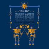 Vector illustration of Robot knights Royalty Free Stock Image