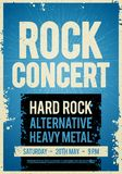 Vector illustration rock concert retro poster design template on old paper texture. Vector illustration rock concert festival retro poster design template on old Royalty Free Stock Images