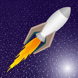 Vector illustration. Rocket. Royalty Free Stock Photo