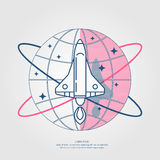 Vector illustration of a Rocket Royalty Free Stock Images