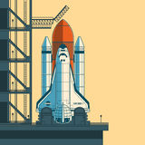 Vector illustration rocket is ready for launch. vector illustration