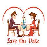 Vector illustration of romantic date  in Stock Image