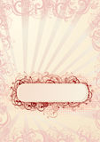 Vector illustration of romantic floral frame Stock Photo