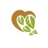 Vector illustration of romantic heart. Homeopathy creative symbo Royalty Free Stock Photography