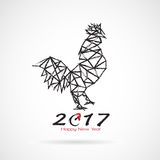 Vector illustration of rooster, 2017 Chinese new year card. Vector illustration of rooster, 2017 Chinese new year card, year of the rooster Vector Illustration