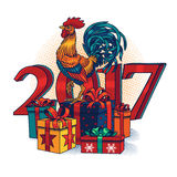 Vector illustration of a rooster Royalty Free Stock Photography