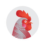 Vector illustration of rooster. Stock Images