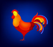 Vector illustration of rooster, symbol 2017 on the Chinese calendar. element for New Year s design. Image Red . Vector illustration of rooster, symbol of 2017 Stock Images