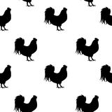 Vector Illustration of Rooster, Symbol of 2017 Year on the Chine. Se Calendar Seamless Pattern Background. EPS10 Stock Photography