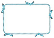 Rope frame with knots Royalty Free Stock Images