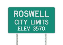 Roswell City Limits road sign Royalty Free Stock Photos