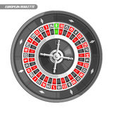 Vector illustration of Roulette Wheel vector illustration