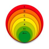 Vector illustration. energy efficiency rating. stock illustration