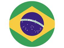 Round Flag of Brasil. Vector illustration of the Round Flag of Brasil stock illustration
