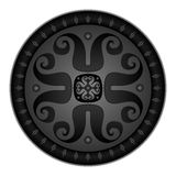 Vector illustration of round medieval shield Royalty Free Stock Image