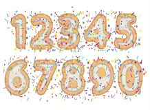 Sweet font numeral Stock Photography