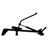 Vector illustration of rowing machine trainer Royalty Free Stock Photos
