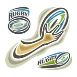 Vector illustration of rugby Stock Images