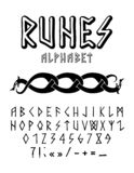Runic style hand drawn alphabet royalty free stock photography