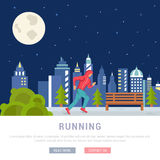Vector Illustration Running Man. Template for Website and Banner Royalty Free Stock Images