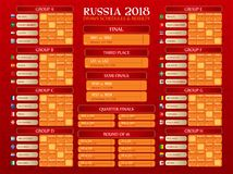 Russia World Cup timetable Stock Photos