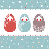 Vector illustration of Russian dolls. Stock Photography