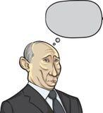 Vector illustration of Russian president Putin Royalty Free Stock Photo