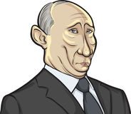 Vector illustration of Russian president Putin. On white background Royalty Free Stock Image