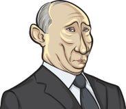 Vector illustration of Russian president Putin Royalty Free Stock Image