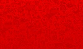Russian football background. Vector illustration russian red background. Official background of the FIFA World Cup in Russia 2018. World of Russia pattern with stock illustration
