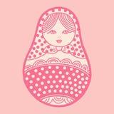 Vector illustration of russian traditional matryoshka doll Royalty Free Stock Images