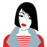 Vector illustration of sad girl Royalty Free Stock Photo
