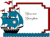 Vector illustration of sailboat Royalty Free Stock Photo